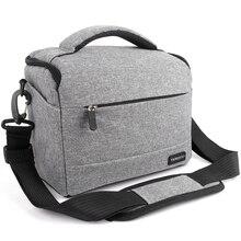 Сумка для DSLR камеры, модная сумка через плечо из полиэстера, чехол для камеры Canon, Nikon, Sony, сумка для объектива, водонепроницаемая сумка для фотосъемки