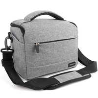 DSLR Camera Bag Fashion Polyester Shoulder Bag Camera Case For Canon Nikon Sony Lens Pouch Bag Waterproof Photography Photo Bag