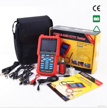 Δωρεάν αποστολή, NOYAFA NF-702 CCTV Video Tester Είσοδος ήχου και PTZ συνεχής εναλλαγή δοκιμής CCTV TESTER