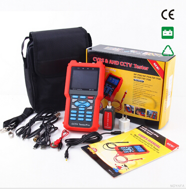 Free shipping, NOYAFA NF-702 CCTV Video Tester Audio input and PTZ continuing rotate test CCTV TESTER