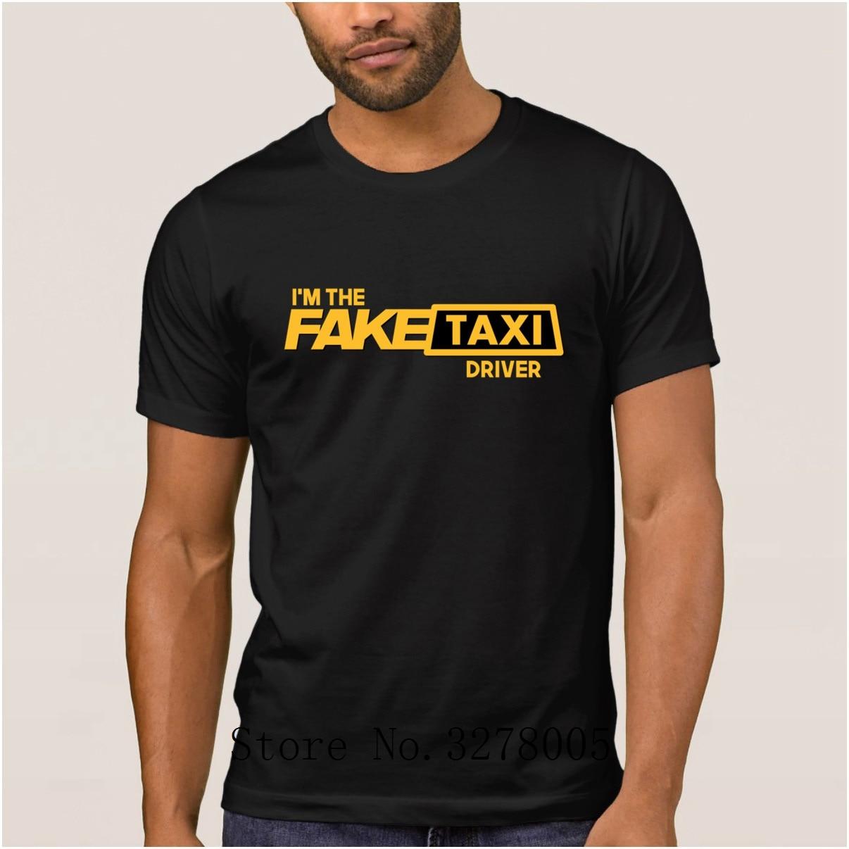 Brand La Maxpa Cool Mens T Shirt Fake Taxi Driver Regular T Shirt Sunlight 100 Cotton Clothing Tshirt Mens Top Quality