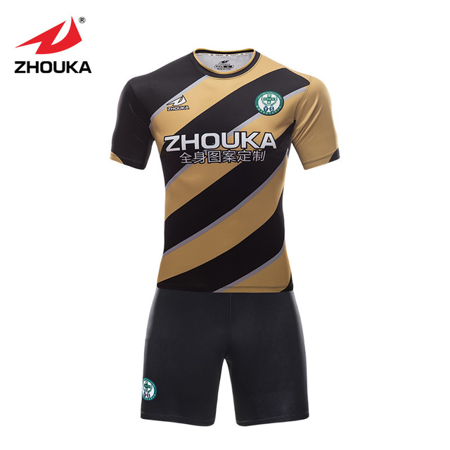 5a10f89ed Sublimation custom Soccer jersey Printing any pattern Football training  suit 100% Polyester striped thailand football shirts