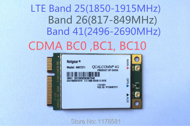 CDMA LTE Mini-Card Module Users Manual Netgear NM7371  4G Card Modem For USA Market