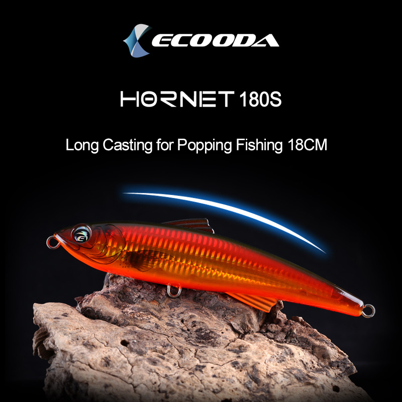 Ecooda Topwater Stickbait GT Tuna Surface Trolling Lure Deep Sea Pencil Boat Fishing Artificial Popping Bait Open Ocean Angling banshee 127mm 21g nexus voodoo atj01 swimbait two sction multi jointed topwater walk dog stickbait floating pencil