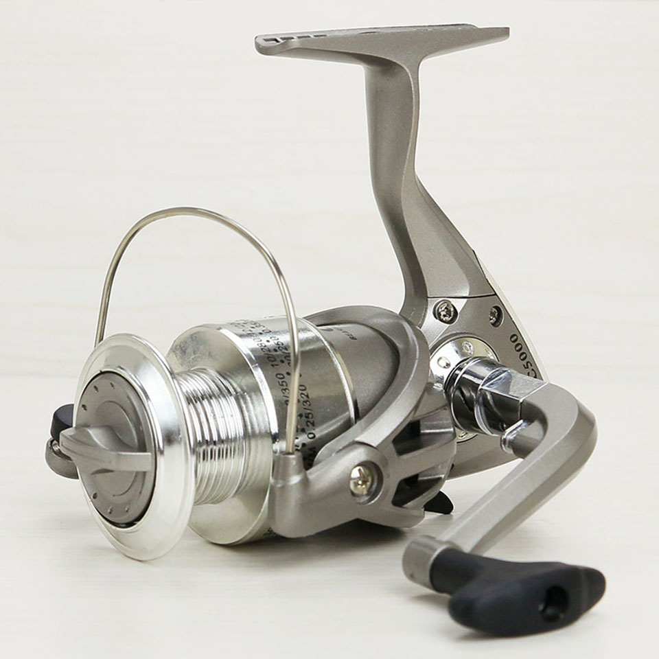 Fishing Reels plastic base 1000-7000 series 8BB spincast reel in disount fishing spinning reel large long shot wheel