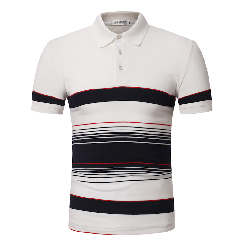 ort sleeve men's   polo   shirt contrast color stripes fashion   polo   shirt men casual hipster office men's   polo   shirt 2018 new 811