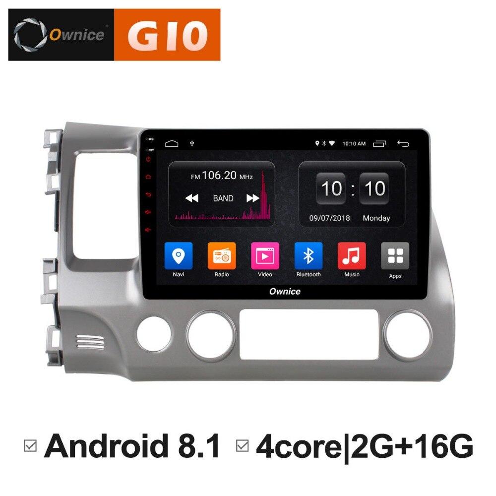 10,1 дюймов Android 8,1 4 ядра 2 ГБ Оперативная память + 16 ГБ Встроенная память dvd плеер для Honda Civic 2004 2009 gps навигации радио TPMS DAB +