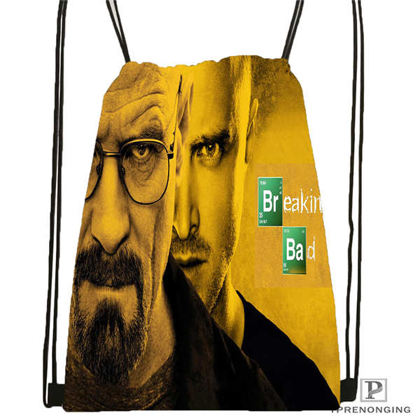 Custom _breaking-bad-aaron Drawstring Backpack Bag Cute Daypack Kids Satchel (Black Back) 31x40cm#2018611-26