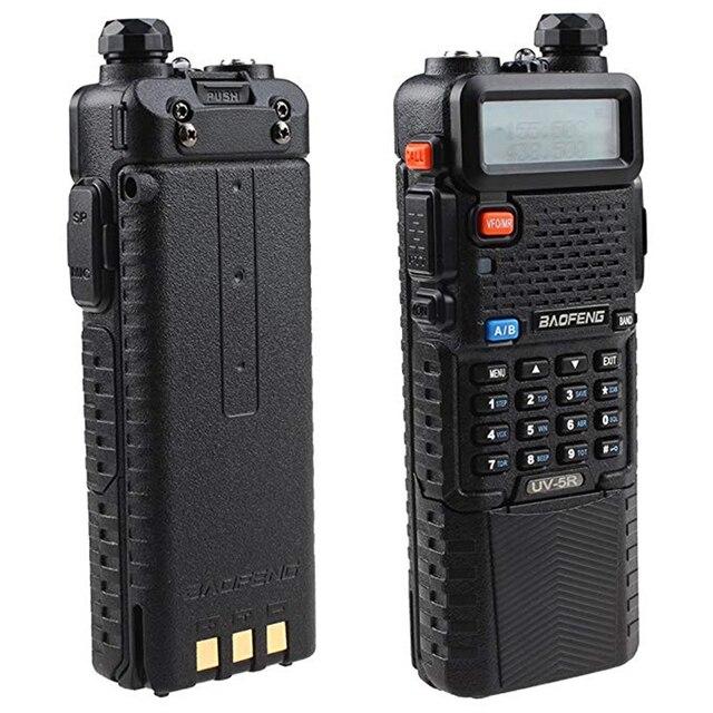 Baofeng UV 5R Dual Band UHF/VHF רדיו משדר W/שדרוג גרסת 3800 mah סוללה עם אפרכסת מובנה פונקצית VOX