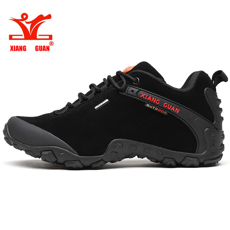 XIANG GUAN 2017 man outdoor hiking shoes slip resistant windproof hiking Sneaker Anti fur sports sneakers high quality 36-45 yin qi shi man winter outdoor shoes hiking camping trip high top hiking boots cow leather durable female plush warm outdoor boot