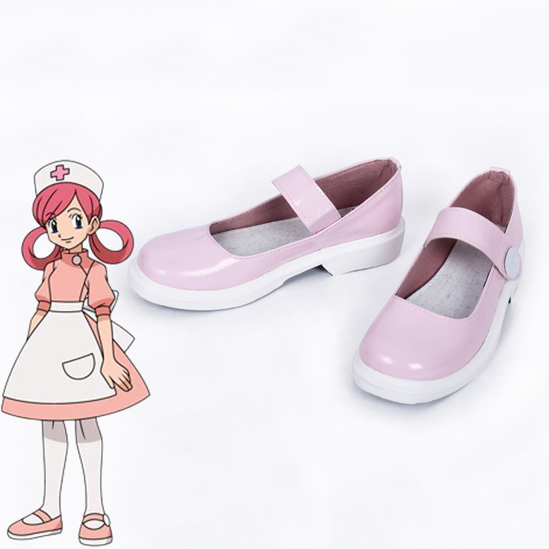 Pokemon Go Pocket Monsters Nurse Joy Cosplay Shoes Pink Boots Shoes Handmade New Halloween Shoes