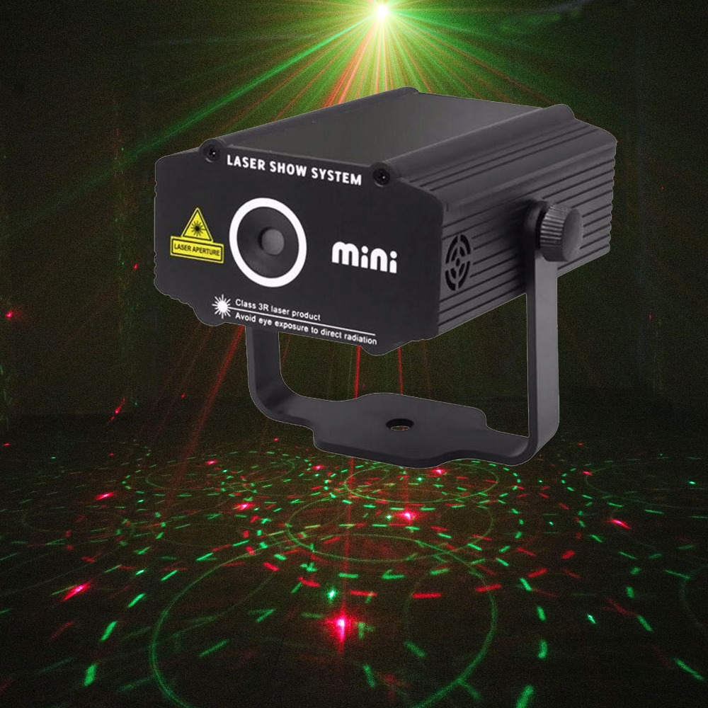 ALIEN Mini Red Green Stage Laser Projector DJ Disco  Club Party Music Xmas Holiday Rotating Laser Stage Effect Show Lighting
