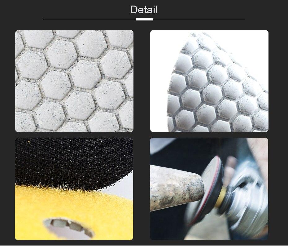 passo 100 milímetros branco almofadas de polimento