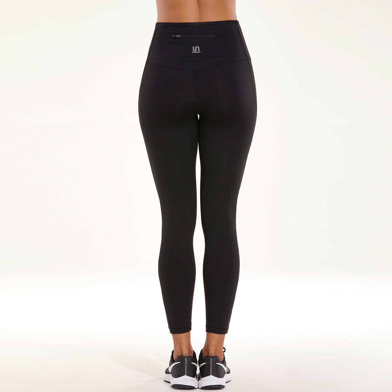 SYROKAN Entraînement de Course de Femmes Leggings Avec Retour Zip Poche dans Yoga Pantalon de Sports et loisirs