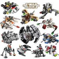 Star Wars Resistance X-Wing TIE Advanced Prototype Micro Fighters Starwars The Force Awakens Gunboat Blocks Toys Gifts