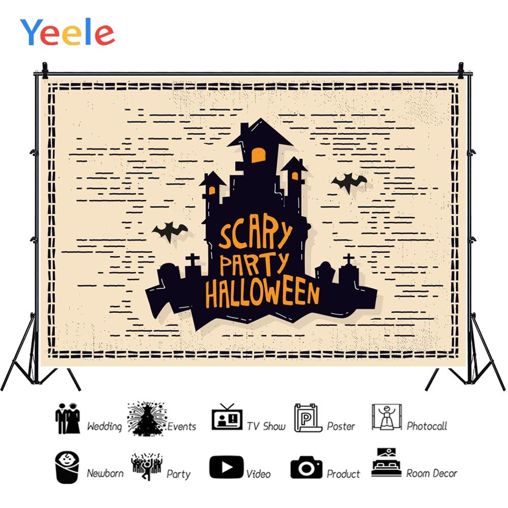 Yeele Scary Party Halloween Vintage Europe City Posters Custom Photography Backdrops Photographic Backgrounds For Photos Studio