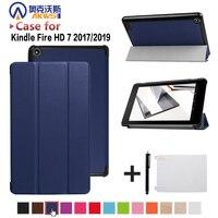 Чехол для amazon kindle fire 7 tablet 2017/2019 release smart cover для всех новых fire 7