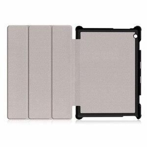 Image 5 - 30 ชิ้น/ล็อต Slim Folio PU สำหรับฝาครอบ Lenovo TAB M10 X605 TB X605F Luxury Case Protector ผิว