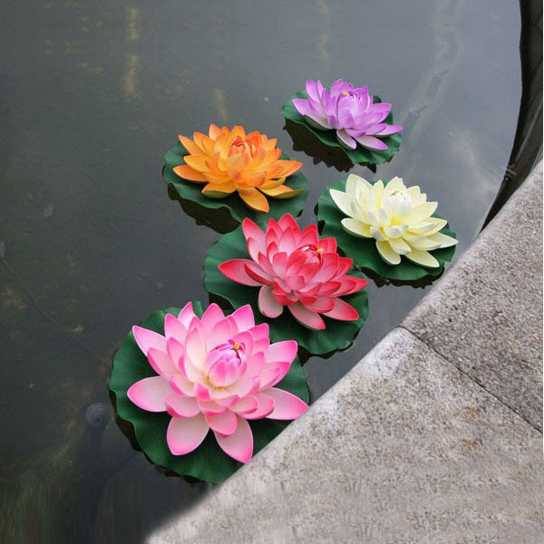 Dia28cm large artificial lotus flower water lily water for wedding dia28cm large artificial lotus flower water lily water for wedding pool decoration fish tank features decor peoperties props in artificial dried flowers mightylinksfo