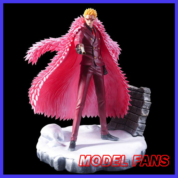 MODEL FANS instock One Piece 28cm Young Donquixote Doflamingo hold a gun gk resin toy Figure for Collection model fans instock one piece 18cm donquixote doflamingo vs trafalgar law gk resin toy figure for collection