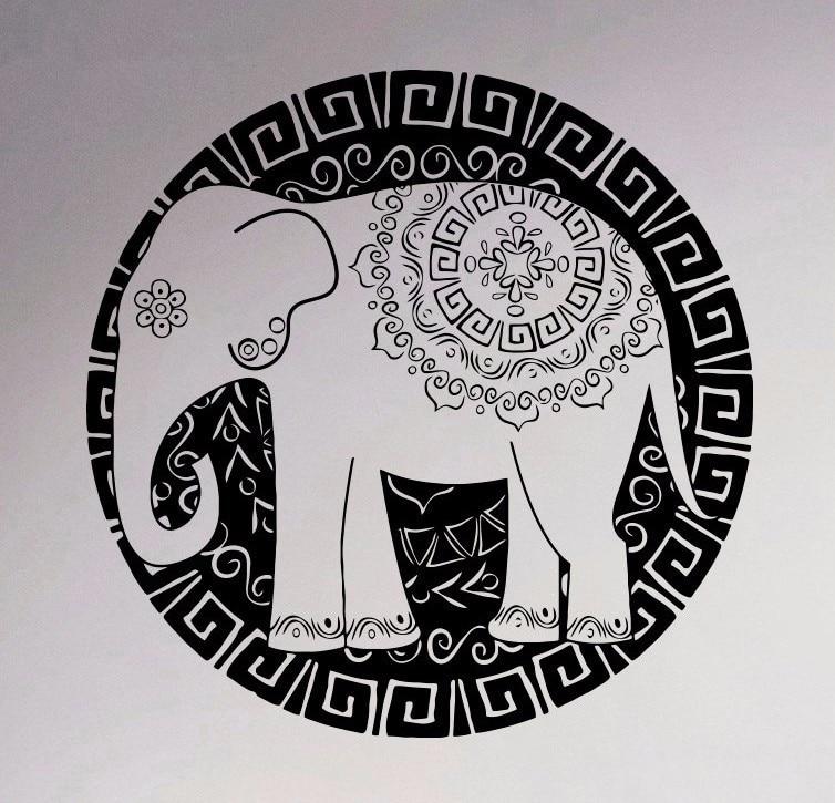 Pinturas Murais Böyük Mandala Vinil Divar Dekalasiya Yoga Etiket - Ev dekoru - Fotoqrafiya 1