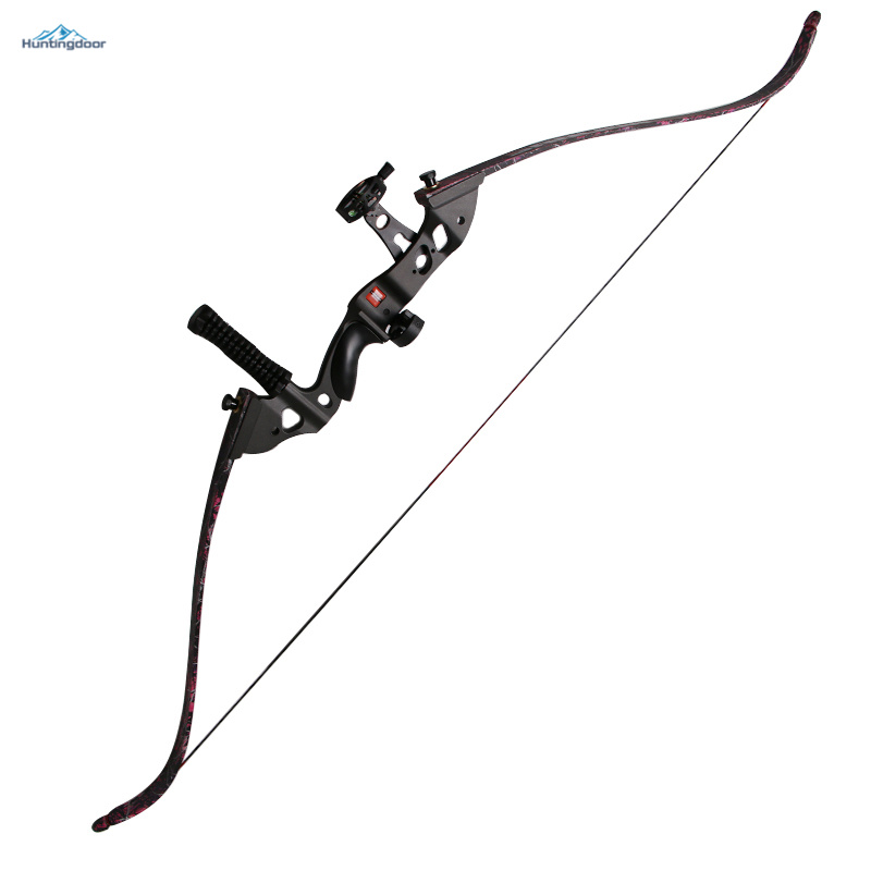 60'' Take down Recurve Bow Bamboo Archery Hunting Bow 35-45lbs Right Hand Shooting Estilingue Adult Bow Whole Sets Equipments 1 piece hotsale black snakeskin wooden recurve bow 45lbs archery hunting bow