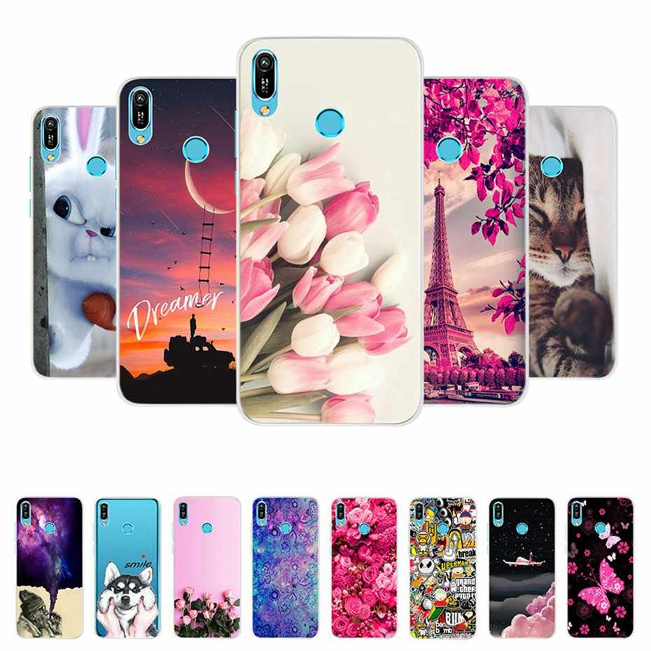 For Cartoon Case Huawei Y6 2019 Case Silicone Soft Back Cover Phone Case For Huawei Y6 2019 Y 6 Prime Pro 2019 MRD-LX1 MRD-LX1F