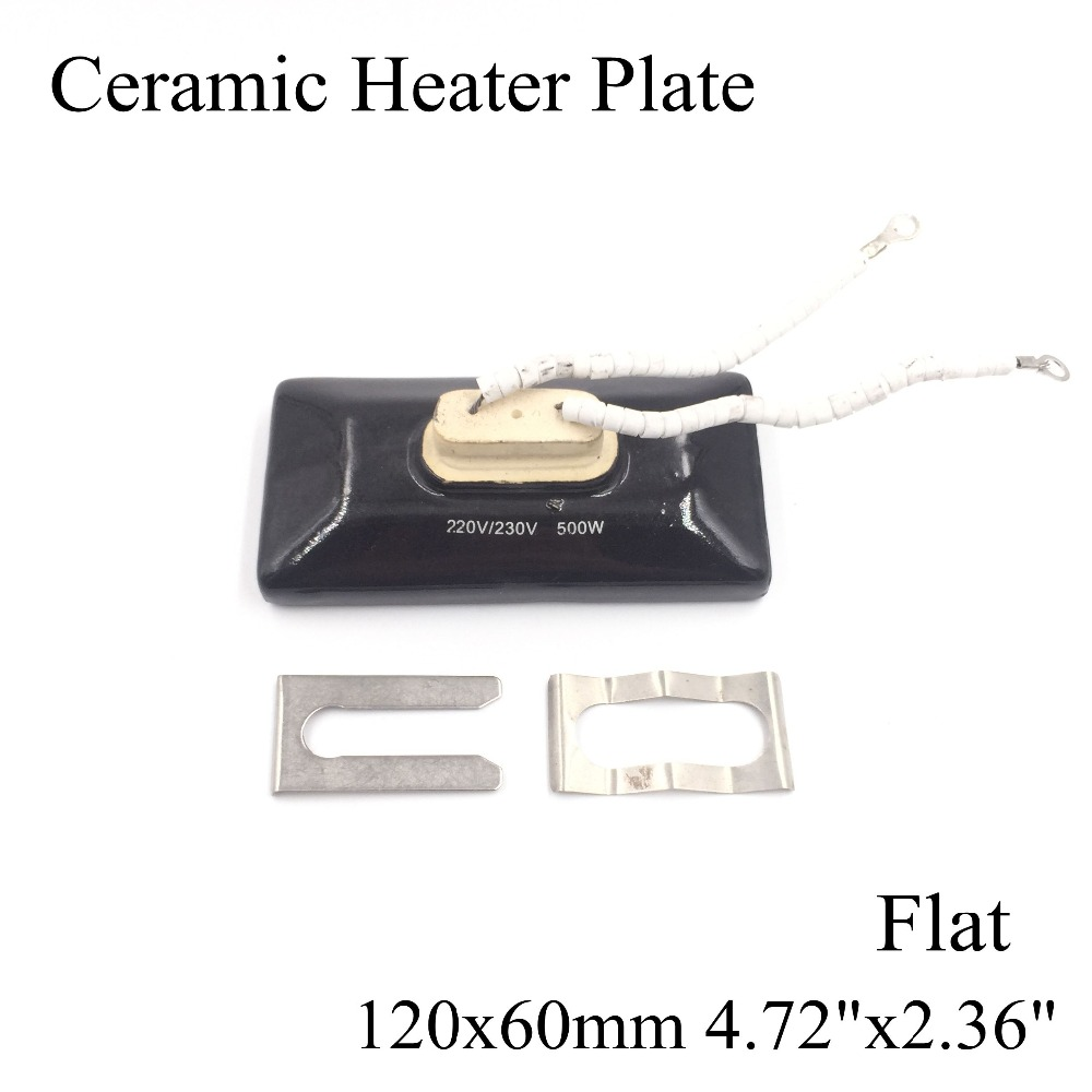 120*60mm Flat Vacuum Injection Molding Machine Repair Far-infrared IR Ceramic Heating Plate Air Ceramic Heater Board Pad For Bga ceramic heater board 120 120mm 220v 230v 150w white flat top upper infrared ceramic heating plate for bga station heater heating