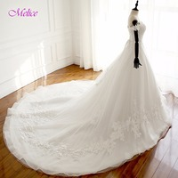 Melice New Stunning Sweetheart Lace Up Vintage Wedding Dress 2018 Appliques Chapel Train Ball Gown Wedding Gown Robe De Mariage