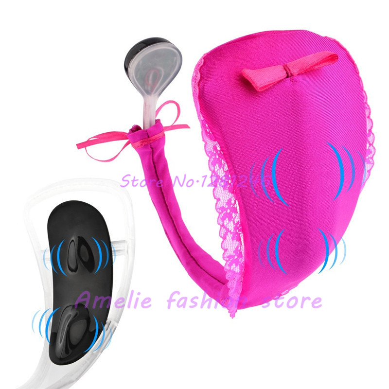 10 Speeds Invisible Vibrating C String Panties Underwear Massager Sex Toy Strap On C String -7229