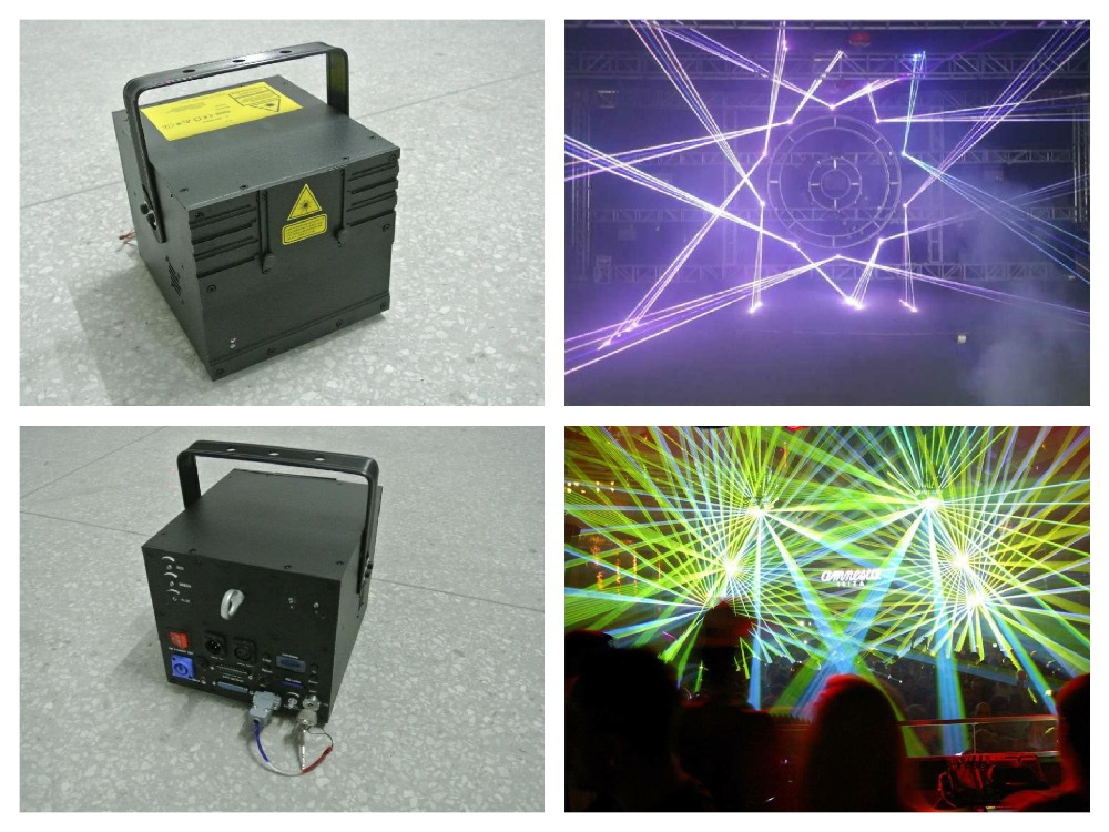 RGB 5W Laser Animation Show 5000mw disco light ILDA stage dj concert party lighting fixture event wedding bar club sound system