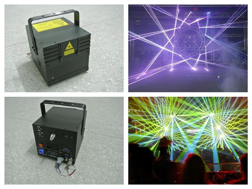 RGB 5W Laser Animation Show 5000mw disco light ILDA stage dj concert party lighting fixture event wedding bar club sound system