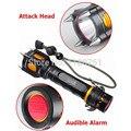 NOVA 2000LM T6 LED Polícia Multifuncional Tactical Lanterna Tocha Alarme Sonoro Ataque Caça lanterna 5 Modos À Prova D' Água