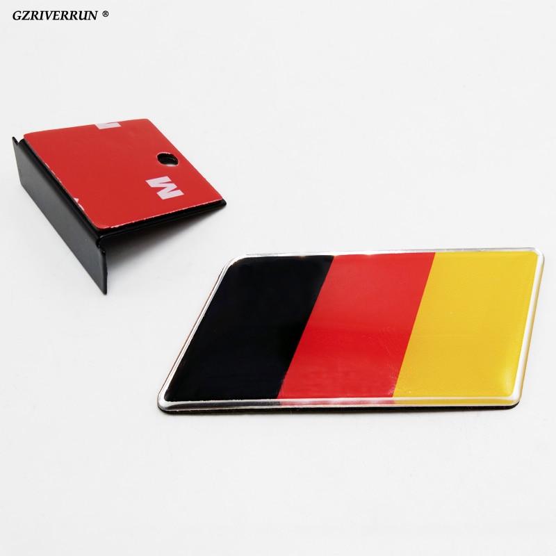 1PC Γερμανική σημαία σημαίας εμβλήματος εμπρόσθιας όψης εμβλήματος προσαρμοσμένη για το μοντέλο Volkswagen Audi A1 A1 A6 ...
