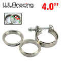 "WLR STORE-  New type 4"" VBand clamp flange Kit (Stainless Steel 201) For turbo exhaust downpipe"