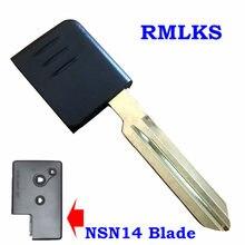 Lâmina chave inteligente para nissan teana substituição inteligente chave emegency inserir lâmina fob remoto com chip id46