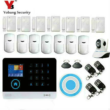Yobang Security 2.4G smart home security wifi gprs wifi gsm alarm system Android/IOS APP remote control voice prompt work