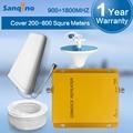 Sanqino GSM Repetidor 900 1800 Dual Band Cell Phone Signal reforço 900 MHz 1800 MHz 70db Ganho GSM Repetidor Amplificador 900 1800