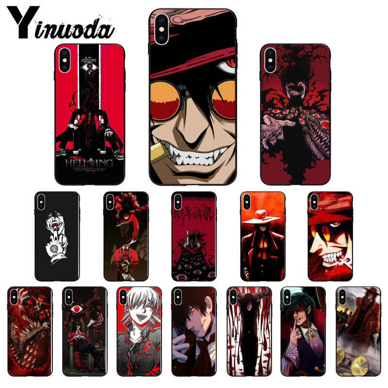 Yinuoda Anime Hellsing Alucard Fan TPU Soft Phone Case Cover for Apple iPhone8 7 6 6S Plus X XS MAX 5 5S SE XR 11 11pro 11promax