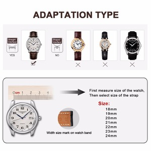 Image 5 - Howk Watchband 18mm 19mm 20mm 21mm 22mm 23mm 24mm Leather Watch Band Alligator Watch Strap With Butterfly Buckle