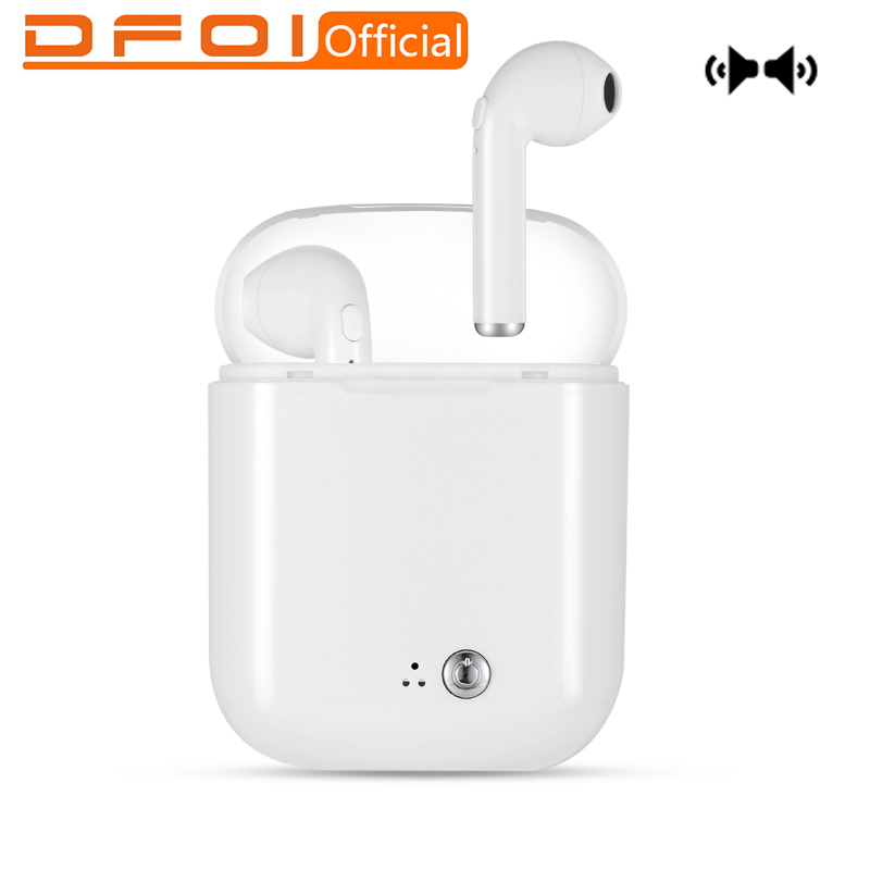 DFOI Wireless Headphones i7s plus TWS Mini Bluetooth Sport Headphone Bluetooth Earphone Stereo Headset With Microphone for phone khp t6s bluetooth earphone headphone for iphone sony wireless headphone bluetooth headphones headset gaming cordless microphone