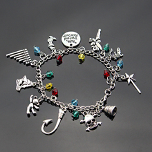 Peter Pan Tinkerbell Charm Bracelet Pirates Of The Caribbean Faith Trust And Pixie Dust Bangle Bracelet Women Wristband цена