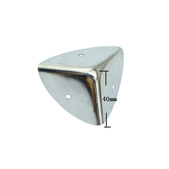 40mm Antique Style Metal Box Corner Iron Protection Case Edge Guard Corner Cover,Chrome Color