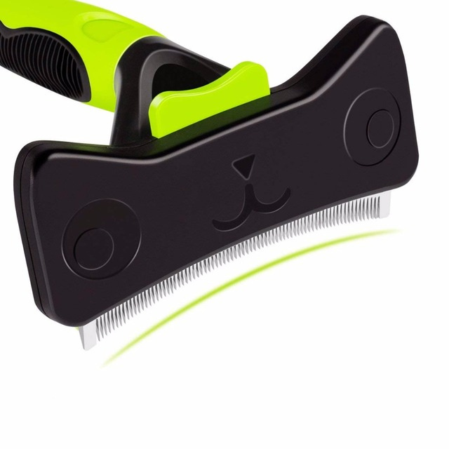 Furmins Deshedding Tool   Comb with Self-cleaning Button