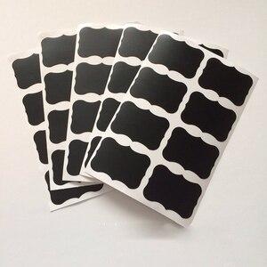 36 шт./компл. 5x3,5 см стираемая доска стикер ремесло кухонные банки Органайзер этикетки доска меловая наклейка черная доска