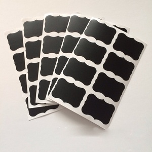 36pcs/set 5x3.5cm Erasable Blackboard Sticker Craft Kitchen Jars Organizer Labels Chalkboard Chalk Board Sticker Black Board