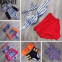 Bain maillot biquini bandage bathing push bikini swimsuit swimwear de suit