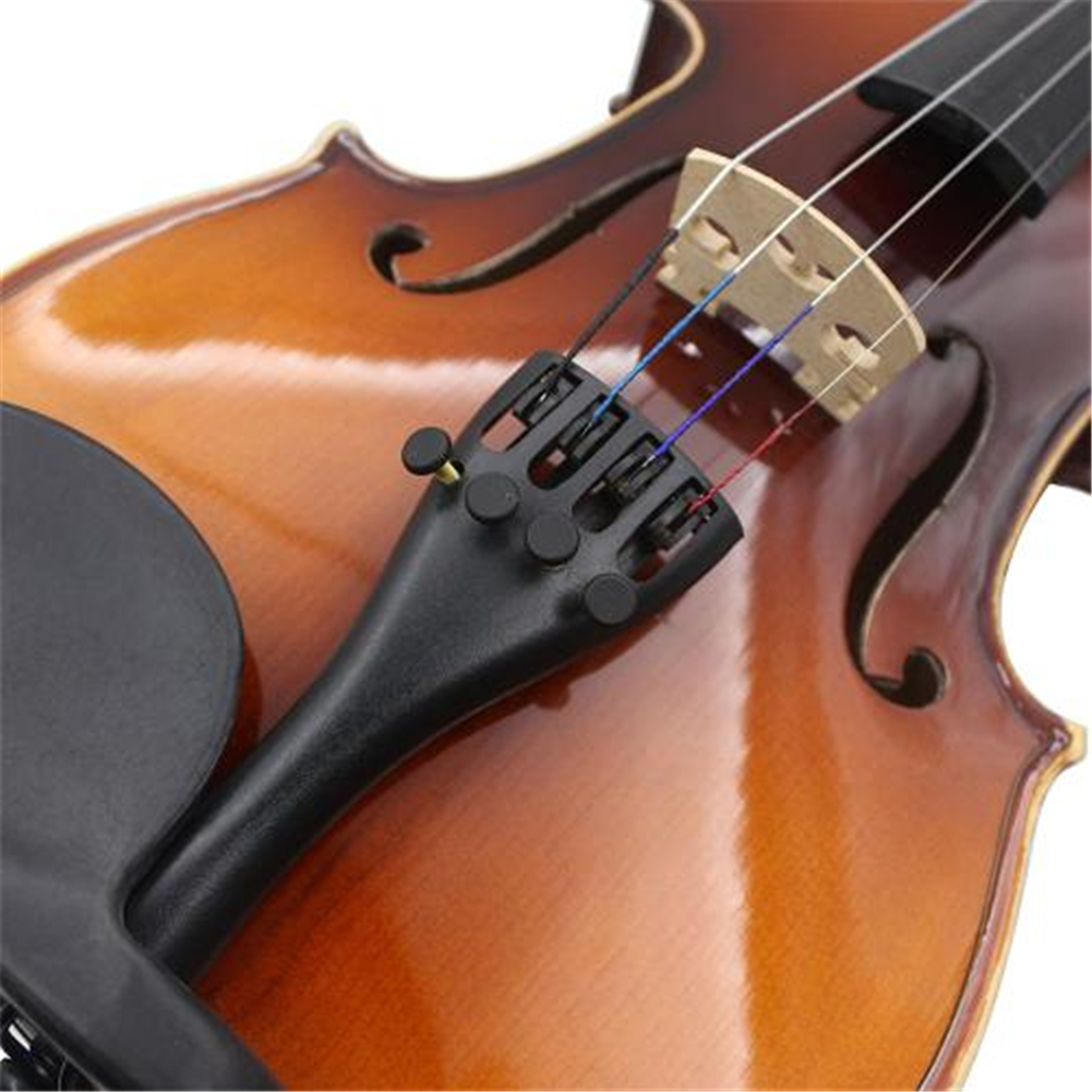 High Quality Violin Fiddle Tailpiece For 3/4 4/4 Violin With Aluminum Alloy Four Fine Tuners Violin Parts & Accessories