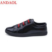 ANDAOL Mens Casual Shoes Top Quality Non-Slip Solid Student Trainers Luxury Brand Lace-Up Men Campus Sneakers Designer