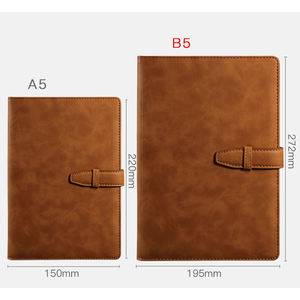 Image 4 - RuiZe A5 hardcover notebook 2020 leather planner agenda organizer office notebook B5 big business notepad  note book soft cover